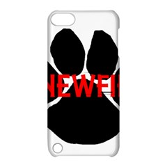 Newfie Name Paw Apple iPod Touch 5 Hardshell Case with Stand