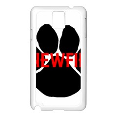 Newfie Name Paw Samsung Galaxy Note 3 N9005 Case (White)