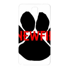 Newfie Name Paw Samsung Galaxy Note 3 N9005 Hardshell Back Case