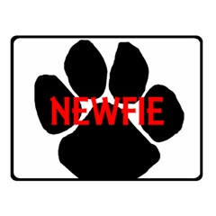 Newfie Name Paw Double Sided Fleece Blanket (Small)