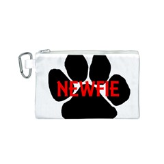 Newfie Name Paw Canvas Cosmetic Bag (S)