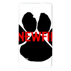 Newfie Name Paw Galaxy Note 4 Back Case