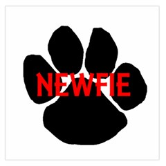 Newfie Name Paw Large Satin Scarf (Square)