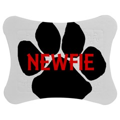 Newfie Name Paw Jigsaw Puzzle Photo Stand (Bow)