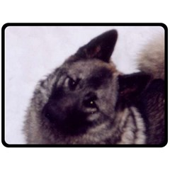 Norwegian Elkhound Fleece Blanket (Large)