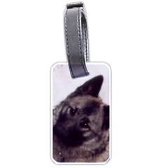 Norwegian Elkhound Luggage Tags (Two Sides)