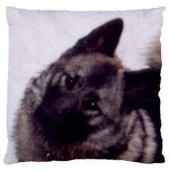 Norwegian Elkhound Large Cushion Case (One Side)