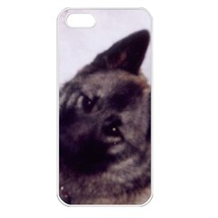 Norwegian Elkhound Apple iPhone 5 Seamless Case (White)