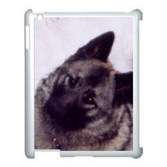 Norwegian Elkhound Apple iPad 3/4 Case (White)