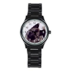 Norwegian Elkhound Stainless Steel Round Watch