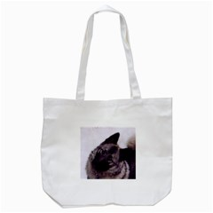 Norwegian Elkhound Tote Bag (White)