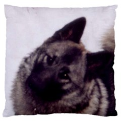 Norwegian Elkhound Large Flano Cushion Case (Two Sides)