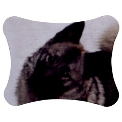 Norwegian Elkhound Jigsaw Puzzle Photo Stand (Bow)