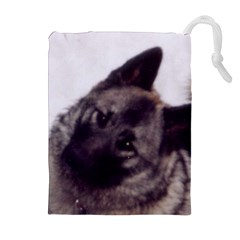 Norwegian Elkhound Drawstring Pouches (Extra Large)