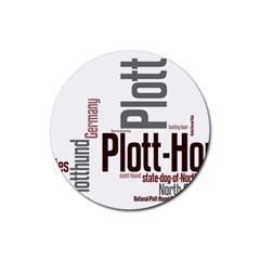 Plott Mashup Rubber Round Coaster (4 pack)