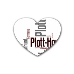 Plott Mashup Rubber Coaster (Heart)