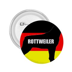 Rottweiler Name Silo On Flag 2.25  Buttons