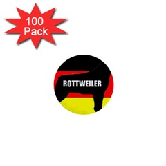 Rottweiler Name Silo On Flag 1  Mini Buttons (100 pack)