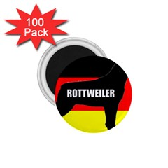 Rottweiler Name Silo On Flag 1.75  Magnets (100 pack)