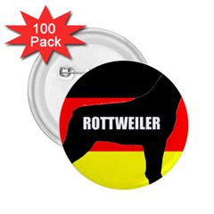 Rottweiler Name Silo On Flag 2.25  Buttons (100 pack)