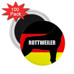 Rottweiler Name Silo On Flag 2.25  Magnets (100 pack)