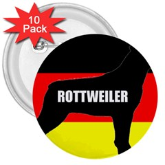 Rottweiler Name Silo On Flag 3  Buttons (10 pack)