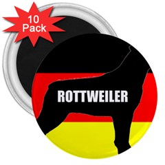 Rottweiler Name Silo On Flag 3  Magnets (10 pack)
