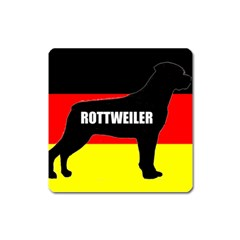 Rottweiler Name Silo On Flag Square Magnet
