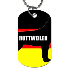 Rottweiler Name Silo On Flag Dog Tag (Two Sides)