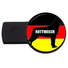 Rottweiler Name Silo On Flag USB Flash Drive Round (1 GB)