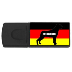 Rottweiler Name Silo On Flag USB Flash Drive Rectangular (2 GB)