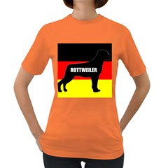 Rottweiler Name Silo On Flag Women s Dark T-Shirt