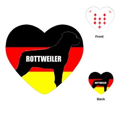 Rottweiler Name Silo On Flag Playing Cards (Heart)