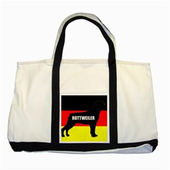 Rottweiler Name Silo On Flag Two Tone Tote Bag