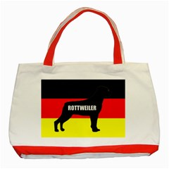 Rottweiler Name Silo On Flag Classic Tote Bag (Red)