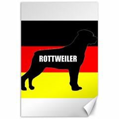 Rottweiler Name Silo On Flag Canvas 24  x 36