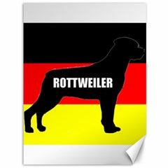Rottweiler Name Silo On Flag Canvas 36  x 48