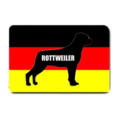 Rottweiler Name Silo On Flag Small Doormat