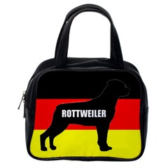 Rottweiler Name Silo On Flag Classic Handbags (One Side)