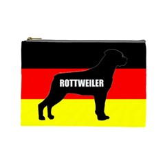 Rottweiler Name Silo On Flag Cosmetic Bag (Large)