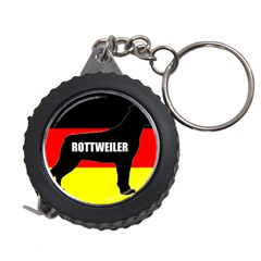 Rottweiler Name Silo On Flag Measuring Tapes