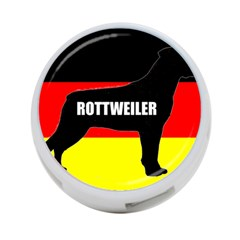 Rottweiler Name Silo On Flag 4-Port USB Hub (Two Sides)