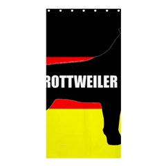 Rottweiler Name Silo On Flag Shower Curtain 36  x 72  (Stall)