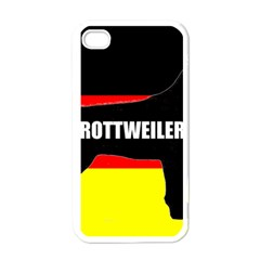 Rottweiler Name Silo On Flag Apple iPhone 4 Case (White)