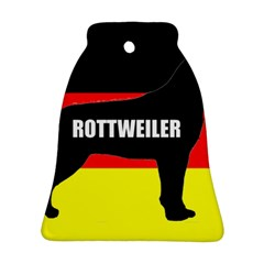 Rottweiler Name Silo On Flag Ornament (Bell)