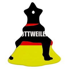 Rottweiler Name Silo On Flag Christmas Tree Ornament (Two Sides)