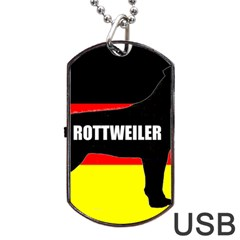 Rottweiler Name Silo On Flag Dog Tag USB Flash (One Side)