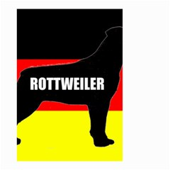 Rottweiler Name Silo On Flag Small Garden Flag (Two Sides)