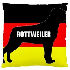 Rottweiler Name Silo On Flag Large Cushion Case (Two Sides)
