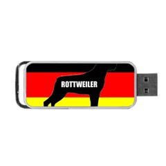 Rottweiler Name Silo On Flag Portable USB Flash (Two Sides)